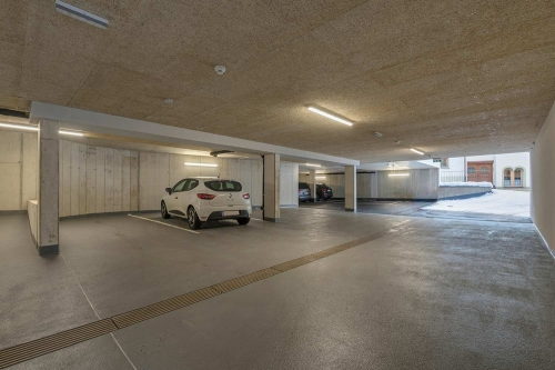 Modern underground parking including E-charging station, St. Anton am Arlberg